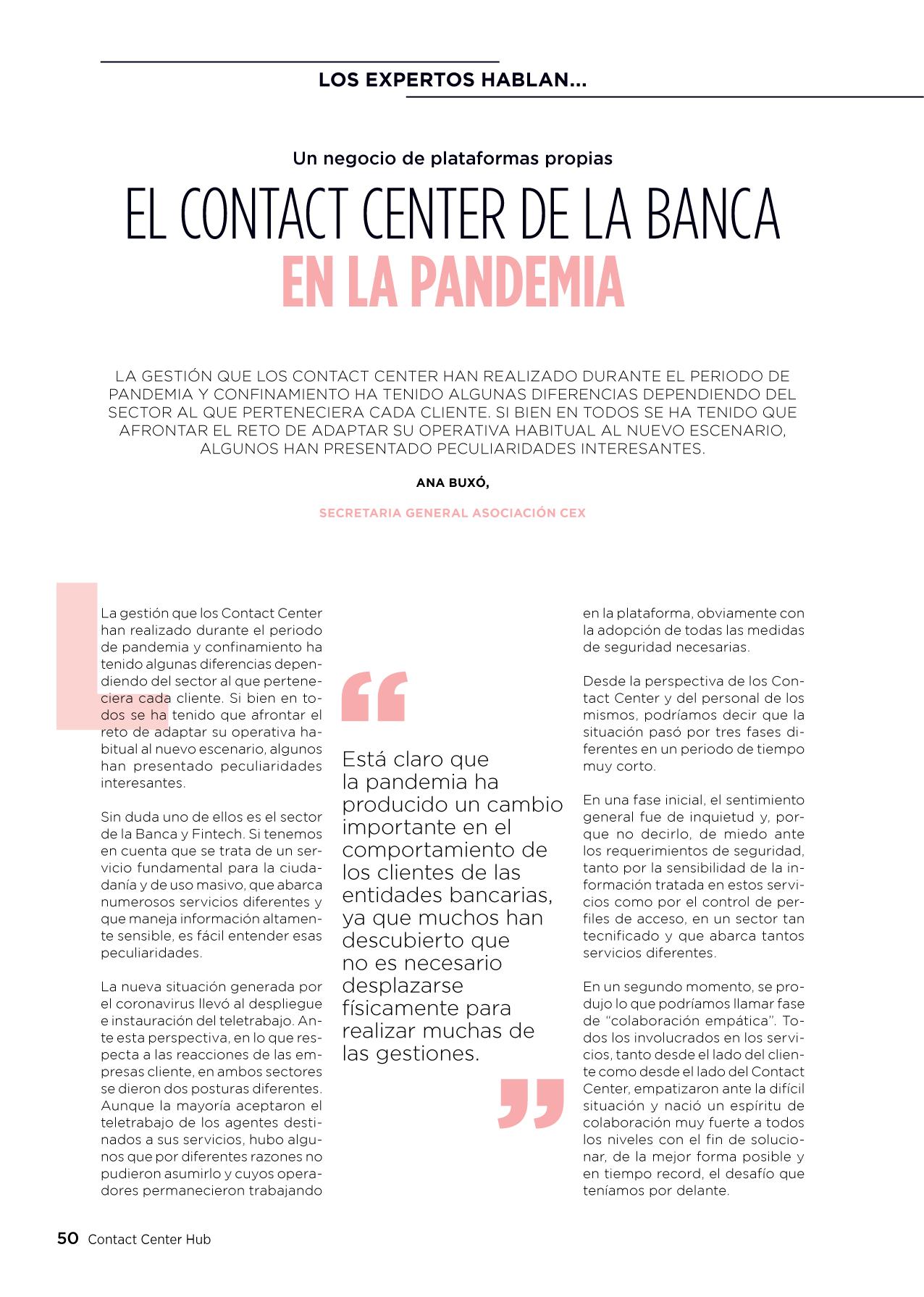 CEX en Contact Center Hub